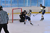 Wide open in front of the net, but no goal. White Plains vs. Pelham at Ebersole Modified Ice Hockey, February 13, 2012